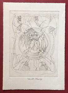 Heinrich C. NERO/Dieter Roth, composizione I, acquaforte, 1977, firmato a mano