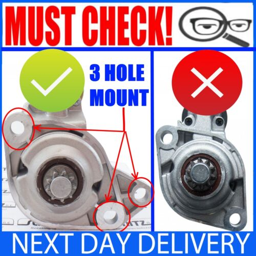 FITS VW//AUDI//SEAT//SKODA//FORD VARIOUS PETROL 1.4//1.6//1.8//2.0 NEW STARTER MOTOR