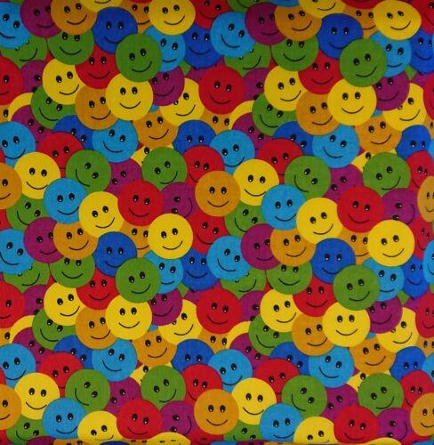 paga solo un bajo carga postal combinado Tela Polycotton emoji