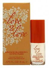 LOVE2LOVE ORANGE BLOSSOM + WHITE MUSK EAU DE TOILETTE 11ML SPRAY - WOMEN'S. NEW