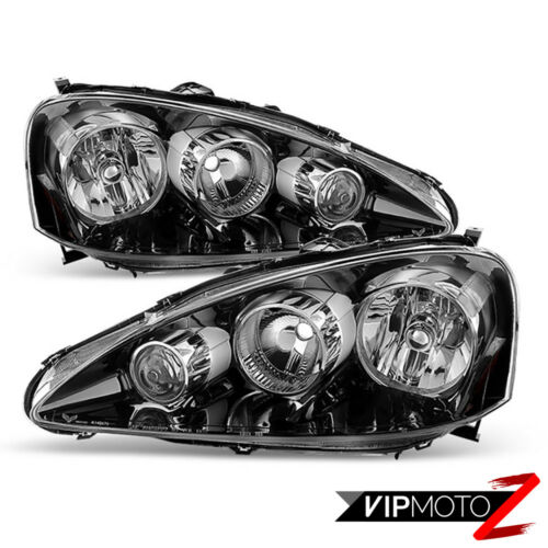 """2005 2006 Acura RSX Type S DC5 /""""JDM BLACK/"""" Front Headlights Assembly LEFT RIGHT"""