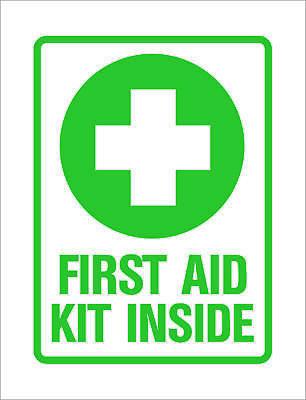 2x First Aid Kit Sticker Die Cut Decal Self Adhesive Vinyl emergency rescue