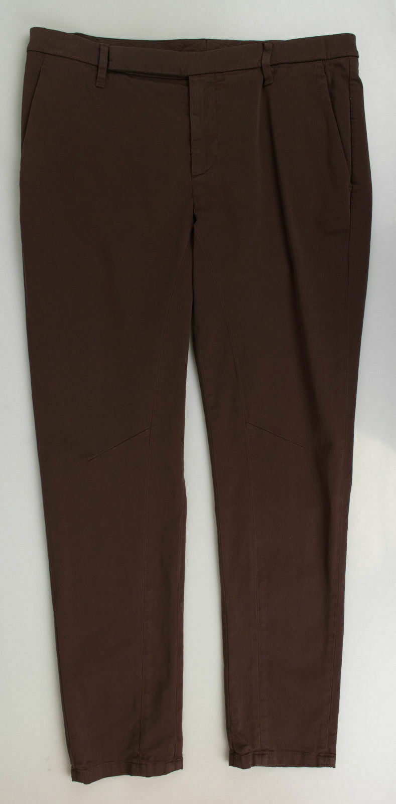 New BRUNELLO CUCINELLI Women's Brown Cotton Blend Casual Pants Size 10 46