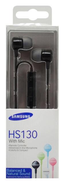 Cuffie con microfono originali SAMSUNG HS130 per Galaxy Note 4 N910F NERE