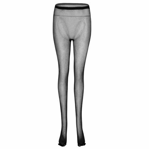 Womens Fishnet See Through Pantyhose Latin Dance Trousers Mesh Sheer Stockings