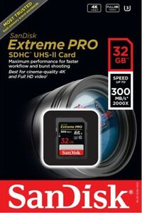 SanDisk-32GB-SDHC-Extreme-Pro-UHS-II-U3-300MB-s-SDSDXPK-032G-4K-C10-32G-SD-Card