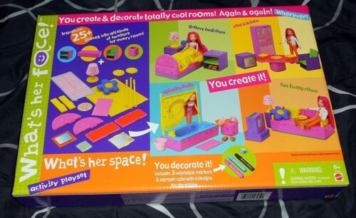 WHATS HER FACE ~ WHATS HER SPACE ~ ACTIVITY PLAYSET ~ CREATE /& DECORATE *NIB