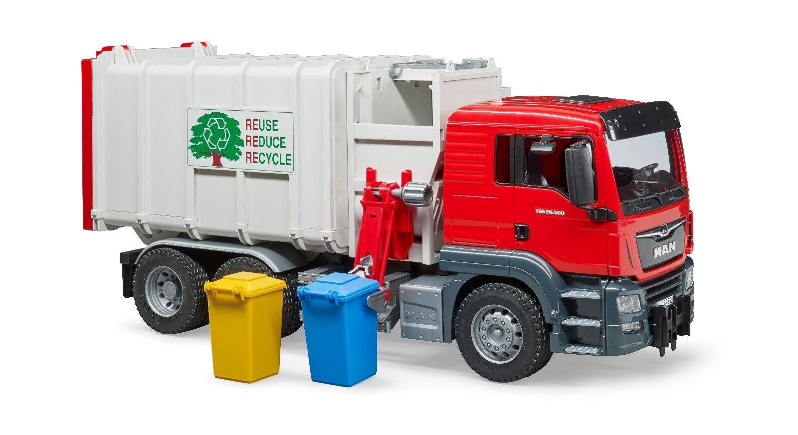 BRUDER® 03761    MAN TGS Seitenlader Müll LKW  , NEU & OVP  | Hochwertig