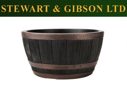 Stewart Jardin Blenheim demi tonneau plante pot 40 Cm Cuivre Ronde