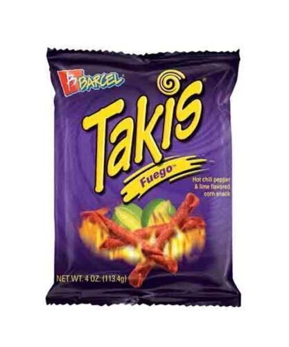 Takis Fuego Hot Chili Pepper /& Lime Flavored Corn Snacks BOX OF 20 4 oz.