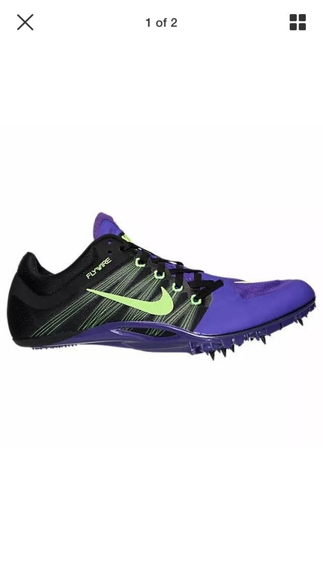 2215eca70 Nike Zoom Zoom Zoom Ja Fly 2 Track Spikes Men s 12 Purple Black Volt  705373-035 NNB  125 b3418a