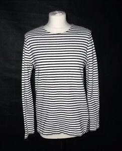 Lovely Nautical Cos Striped Long Sleeved Cotton Top L 12 14 Ebay