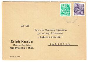 Geschaeftsbrief-Michel-Nr-DDR-579A-MiF-577A-o-Geschwenda-Thueringerw-3-5-57