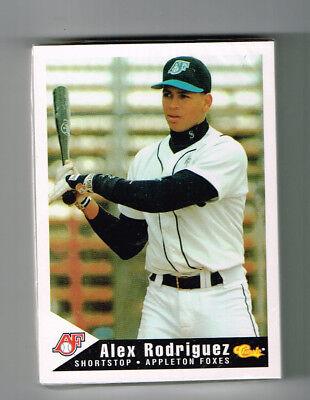 APPLETON FOXES MINOR TEAM PROCARDS SET 1994 ALEX RODRIGUEZ 1ST RC