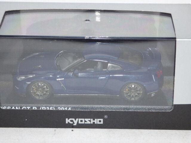 KYOSHO NISSAN GTR (R35) 2014 AURORA FLARE blueE PEARL REF 03744ABL