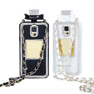 Diamond-Crystal-Bling-Perfume-Bottle-Cover-Case-Handbag-Chain-for-Cell-Phones