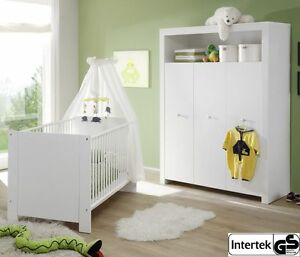 baby m bel set wei kinderzimmer kleiderschrank und babybett babyzimmer olivia ebay. Black Bedroom Furniture Sets. Home Design Ideas