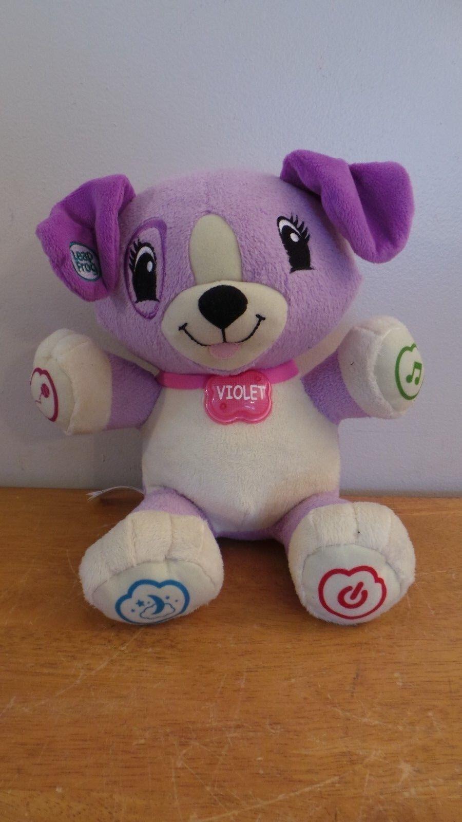 My Pal purple Talking Interactive Puppy Dog Learning Plush LeapFrog