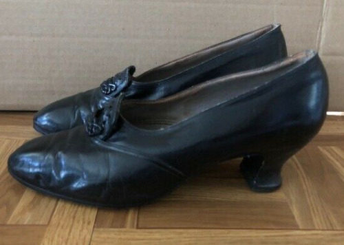 1920's Black Day Shoes Heels--size 9!