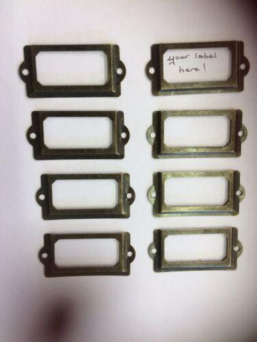 8x Vintage Drawer Labels Haberdashery File Pigeon Hole Card Frame Name Holder