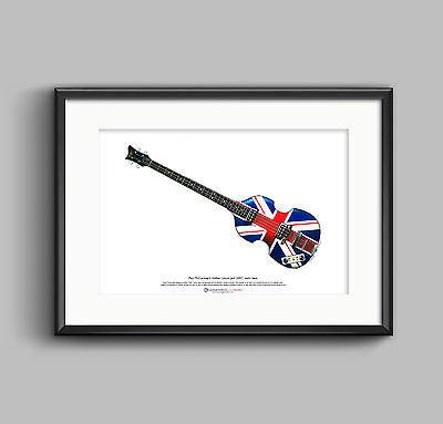 Paul McCartney's Hofner Jubilee ART POSTER A3 size