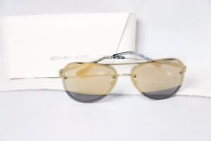 912866e0734a Image is loading Michael-Kors-La-Jolla-Mirrored-Rimless-Aviator-Sunglasses-