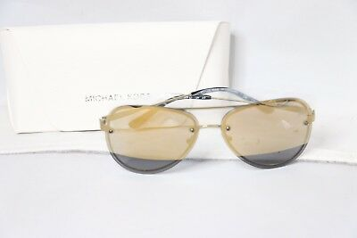 Michael Kors La Jolla Mirrored Rimless Aviator Sunglasses Gold MK1026 725125991780 | eBay