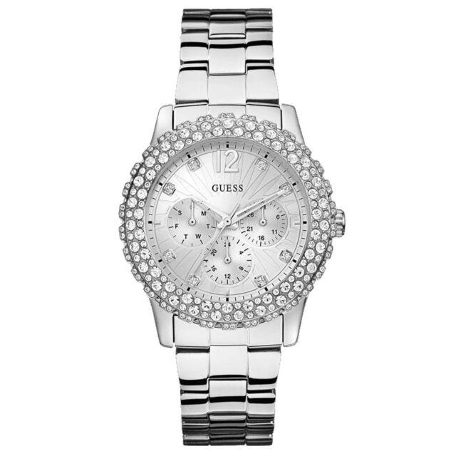 Guess W0335L1 Women's Watch Analogue Quartz Silver Dial Silver Steel Strap