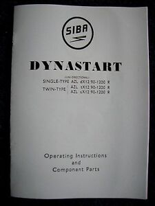 Superb Siba Dynastart Operating Instructions And Parts Dyn01 Ebay Wiring Database Gramgelartorg