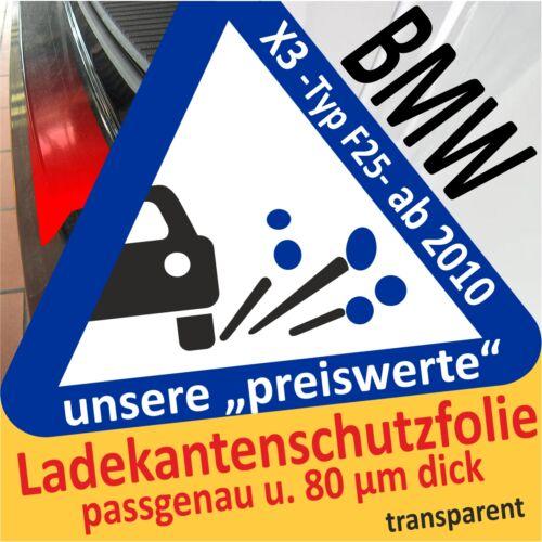 Autofolie Ladekantenschutz Lackschutzfolie Schutzfolie 80µm BMW X3 F25