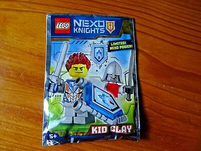 Lego minifigure figure polybag limited nexo knights kid clay child knight