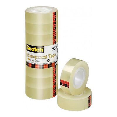 0,12 €//m Klebefilm Kklebeband 19mmx10m  Scotch 3M  8 Rollen 5501910 NEU+OVP
