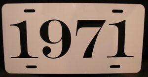 1971 License Plate Fits Cuda Challenger Chevelle Ss Gto Ebay