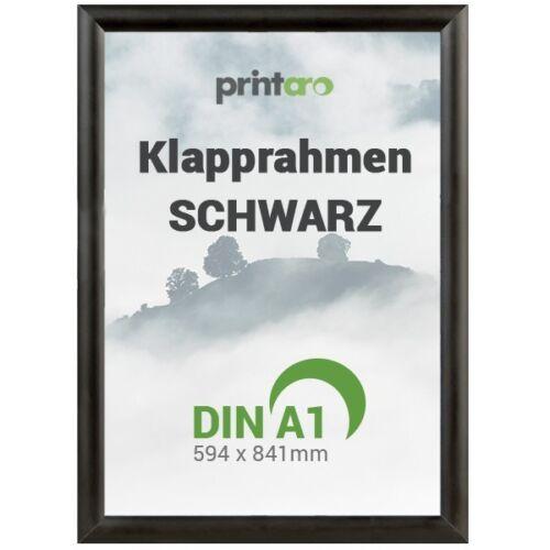 1 x DIN A1 Alu-Klapprahmen Plakatrahmen Schwarz RAL9005