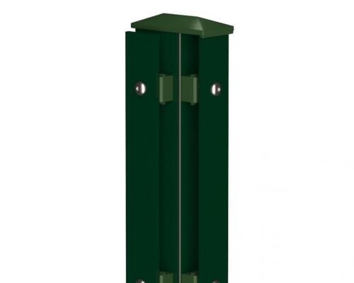 Camas Eckpfosten Links Typ1 1030mm moosgrün Doppelstabmattenzaun