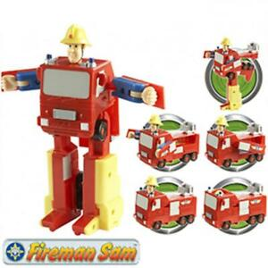 Fireman-Sam-Convertible-Fire-Engine-Action-Figure-Transformer-Toy-Play-Set-New