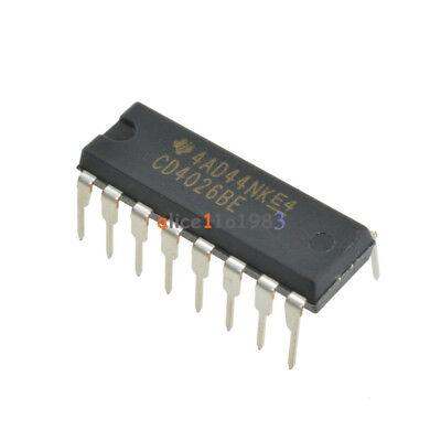 2PCS CD4026 CD4026BE 4026 IC CMOS Counters Decade/Divider