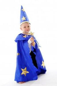 NEW Little Heroes Wizard Cape, Hat & Wand Dress Up Set