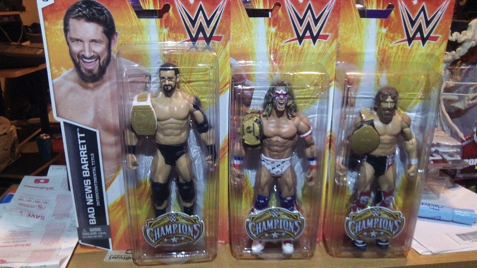WWE Basic Kmart Exclusive Ultimate Warrior Bad News Barrett Daniel Bryan NEW
