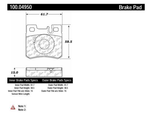 Centric 100.04950 OEM Brake Pads