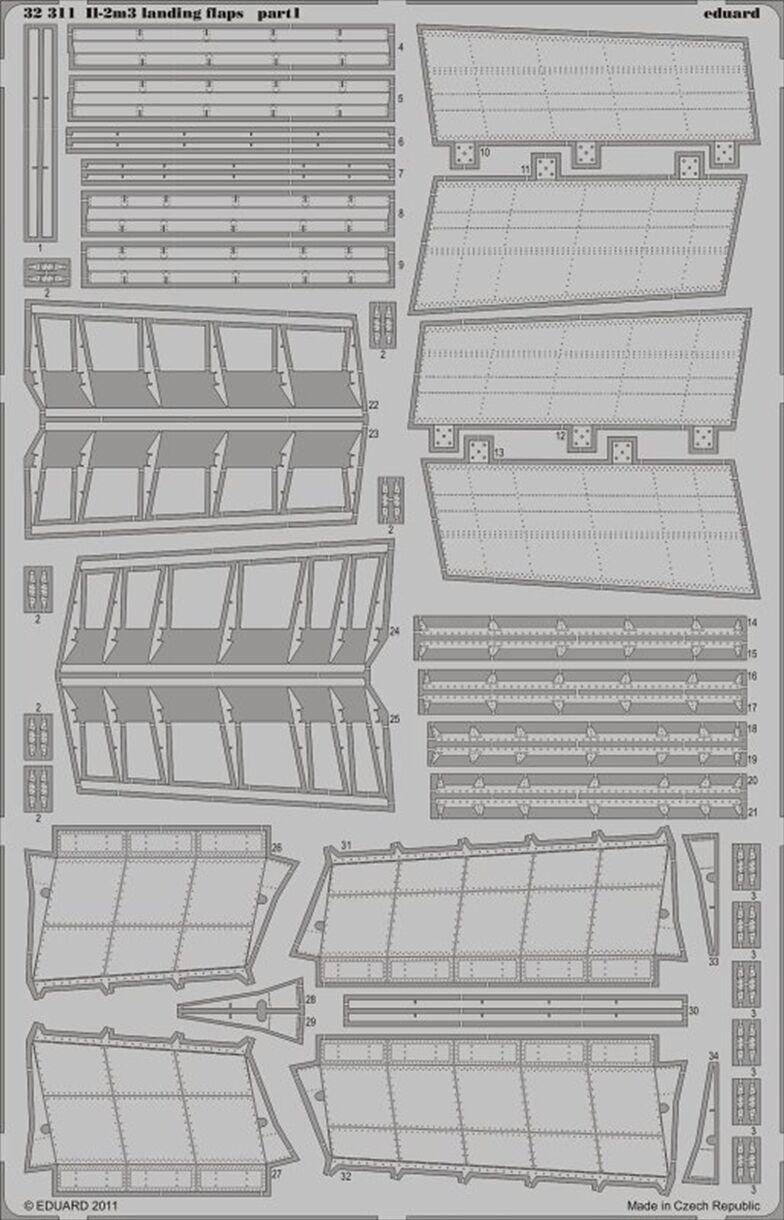 EDUARD 1 32 ILYUSHIN IL-2M3 Flap Atterraggio per Hobby Boss Kit