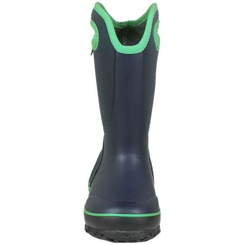 BOYS BOGS SLUSHIE SOLID NAVY GREEN INSULATED WARM WELLIES BOOT 72292 492