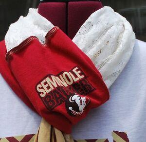 Florida State Seminoles FSU Noles Game Day Infinity Circle Scarf Upcycled Shirt