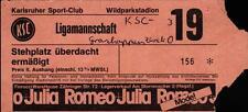 Ticket Karlsruher SC - Grasshopper Zürich, Ende 70er / Anfang 80er