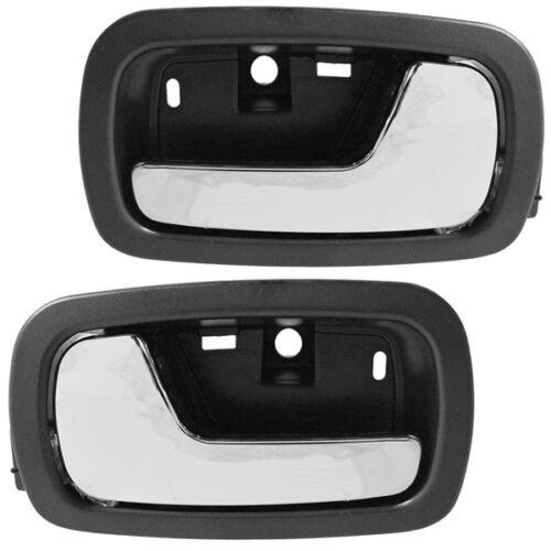 05-10 Cobalt Inside Inner Interior Black Front Door Handle Pair Set Left Right