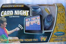 ELECTRONIC CARD NIGHT TV VIDEO GAMES W/ REMOTE -PLAY 12 DIFFERENT CARD  GAMES
