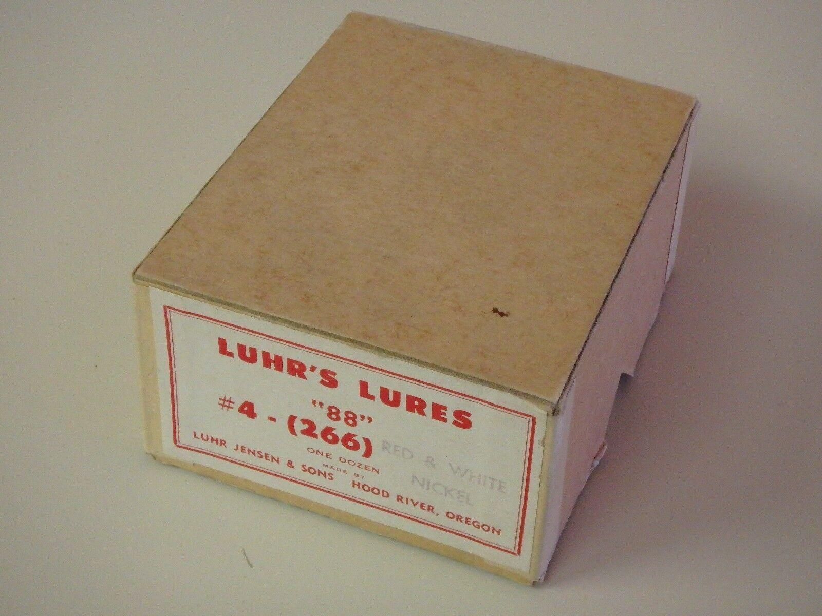 Vintage  Luhr Jensen & Sons Luhr's Lures  88  Dealer Box Daredevil Paint Job  world famous sale online