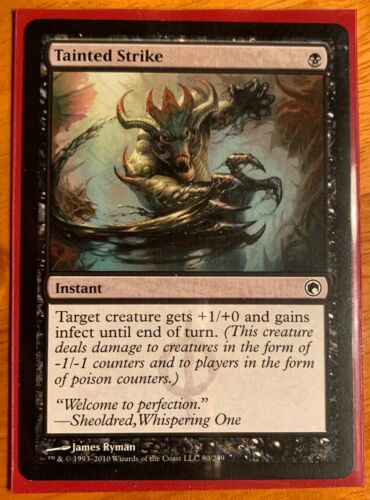 Scars of Mirrodin x1 MTG, Magic: the Gathering Tainted Strike