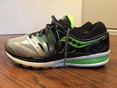 2cfaf338 Saucony Hurricane ISO 2, Black / Silver, S20293-1, Men's Running Shoes,  Size 11   eBay