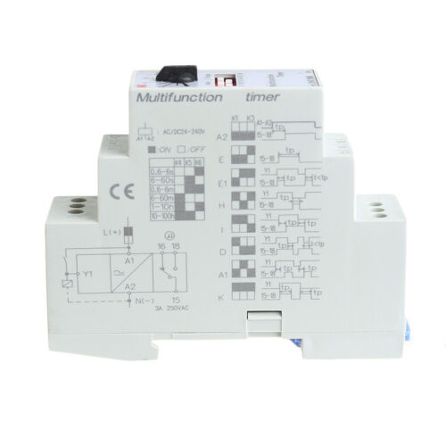 1Pc AC//DC 24-240V DHC19-M Multifunction Timer Time Relay